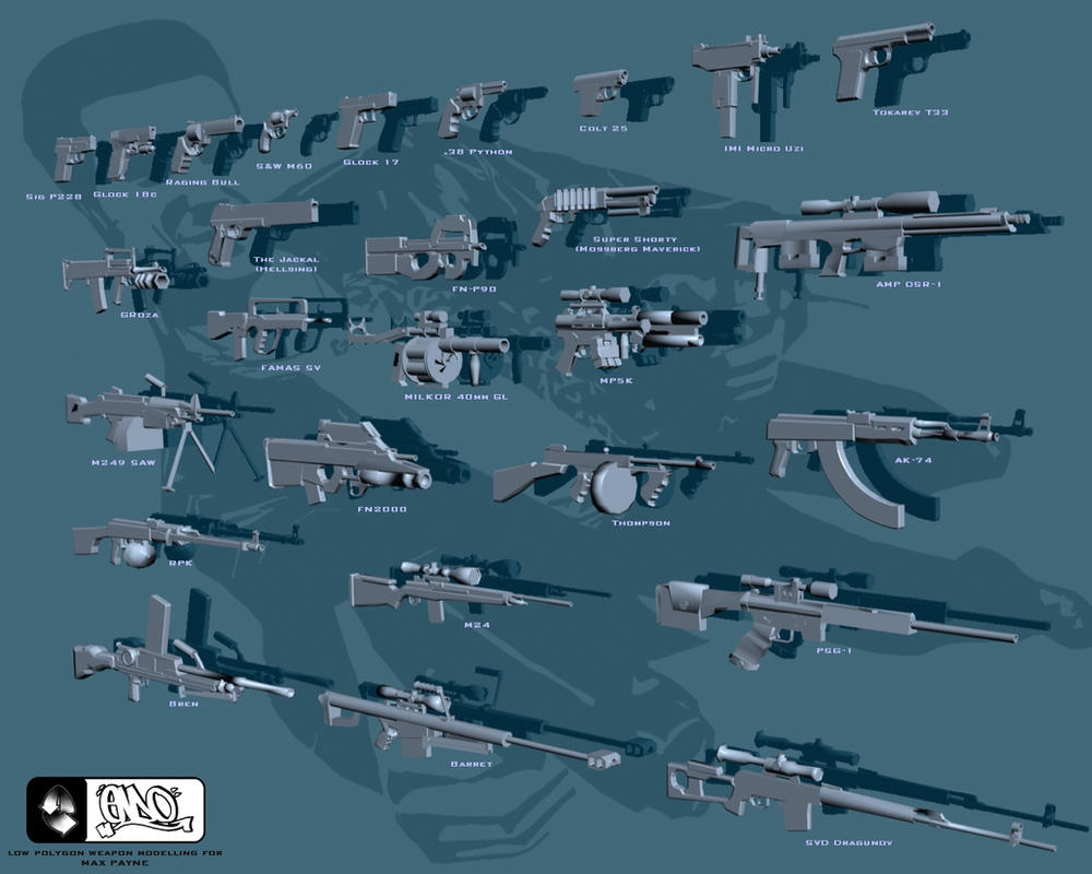 Third Low Poly Art Pubg: Low Poly Weapons Render By Peno1 On DeviantArt