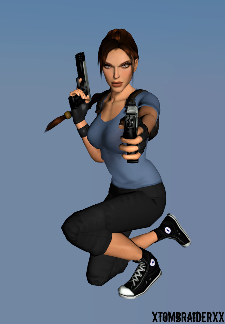 Lara Portrait 29 Blender 2.6 Test by XTombRaiderxx