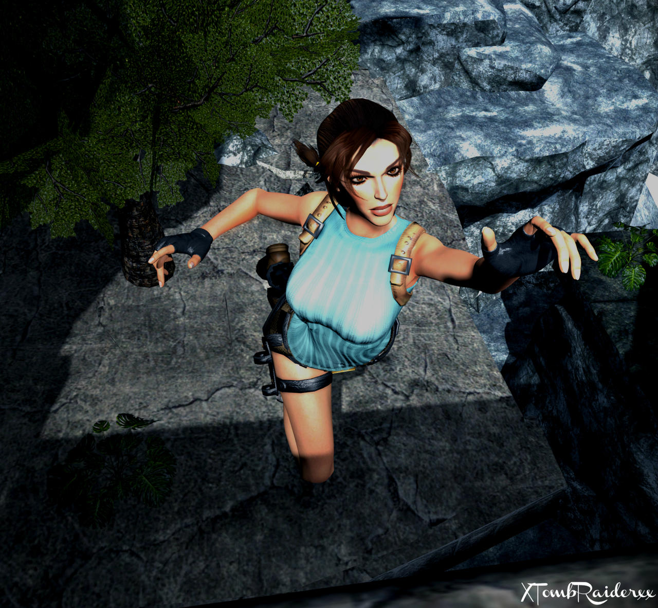 Lara Portrait 53 by XTombRaiderxx