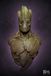 Groot Portrait by kevinsalki