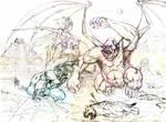 Conan y Belit boceto