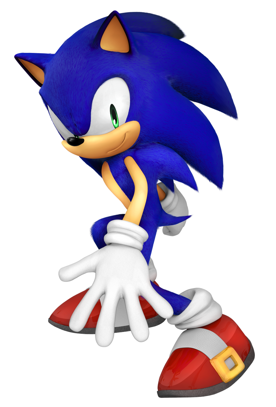 Sonic The Hedgehog 3D pose (?) by Fentonxd