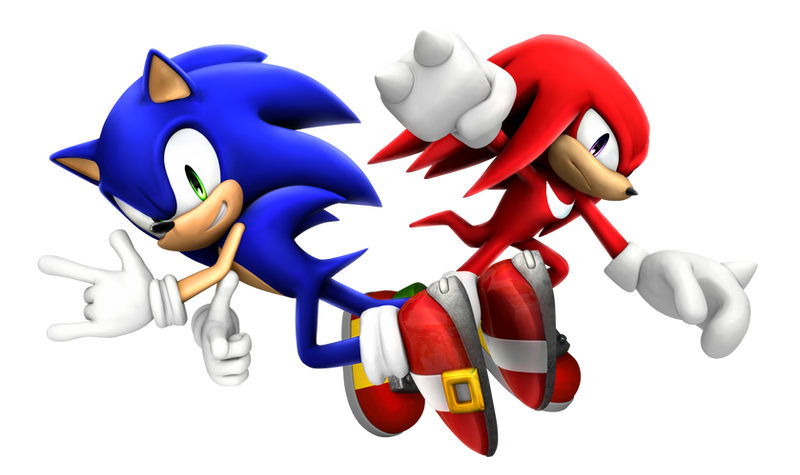 Sonic and Knuckles by Fentonxd