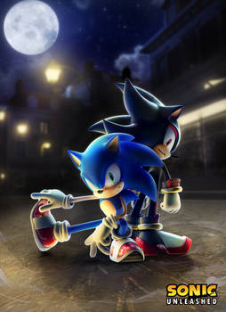 Sonic and Shadow in Spagonia