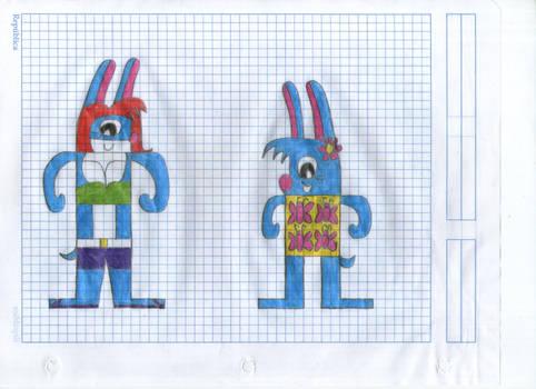 SVM27 Bunny Gals OCs