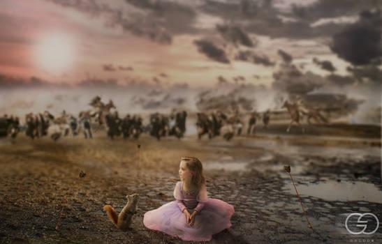 Photomanipulation | Alone against war