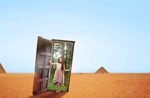 Photomanipulation | Futuristic door Fantasy