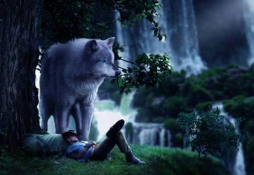 Photomanipulation | Big wolf surrealist
