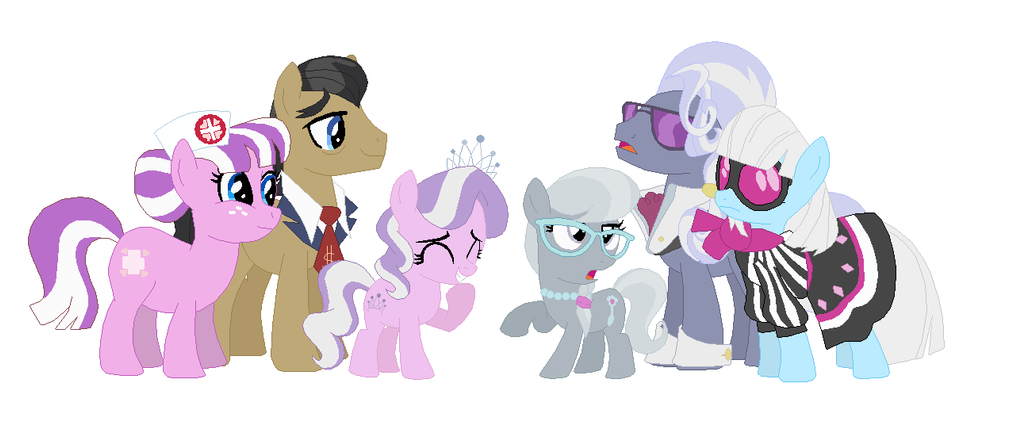 What does Diamond Tiaras and Silver Spoons cutie marks