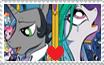 AU! King Sombra x Princess Celestia Stamp by Crazii-Drawing