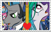AU! King Sombra x Princess Celestia Stamp by Crazii-Drawing