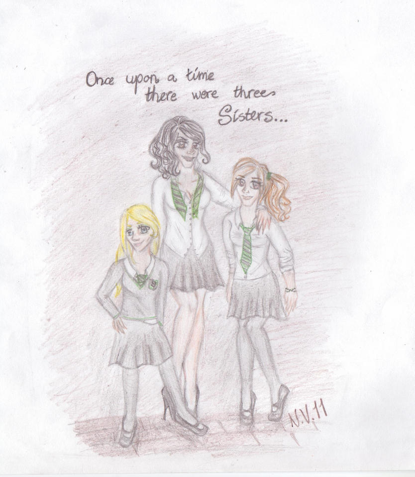 Narcissa, Bellatrix and Andromeda by nekkuu on DeviantArt
