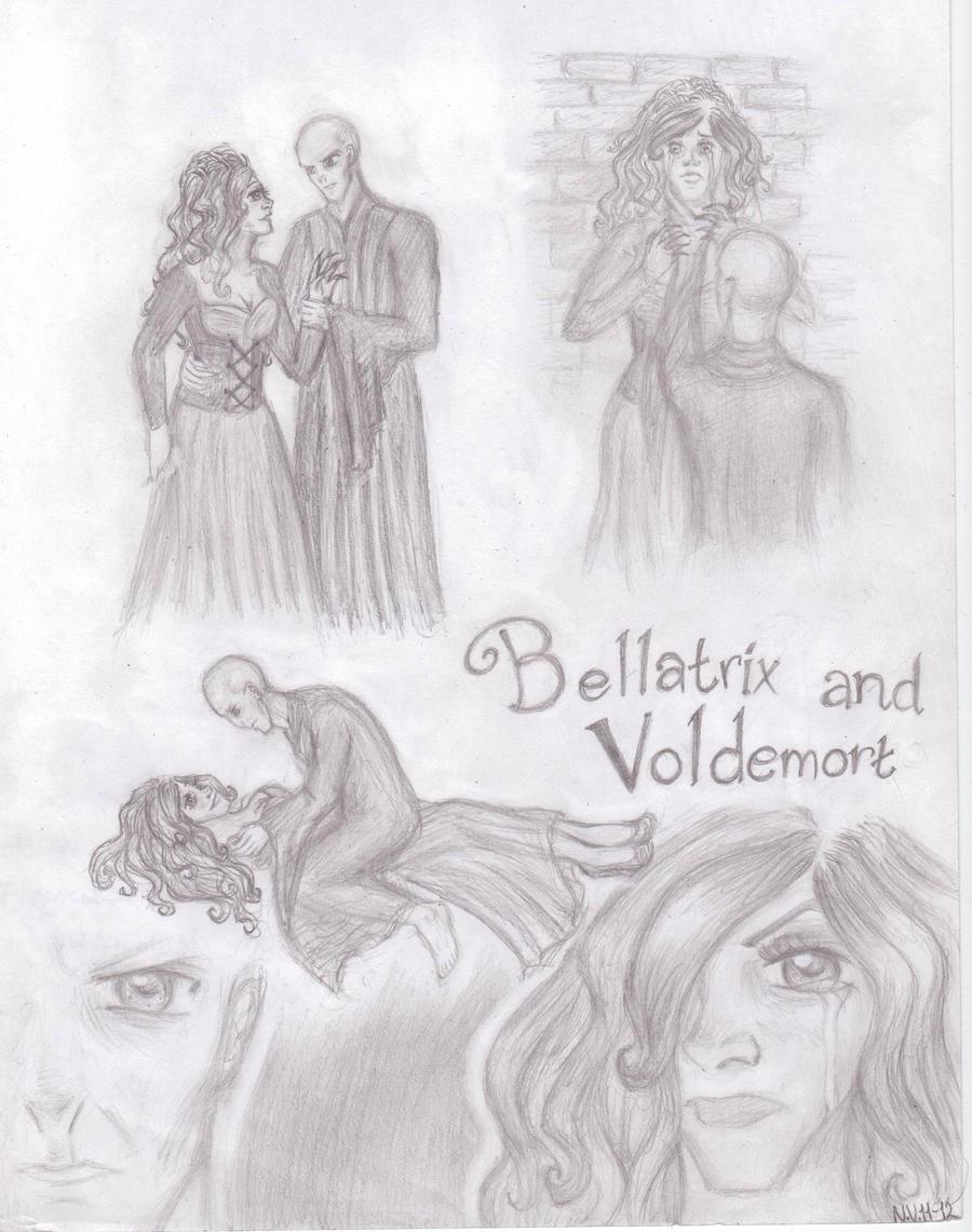 Bellatrix and Voldemort by nekkuu on DeviantArt