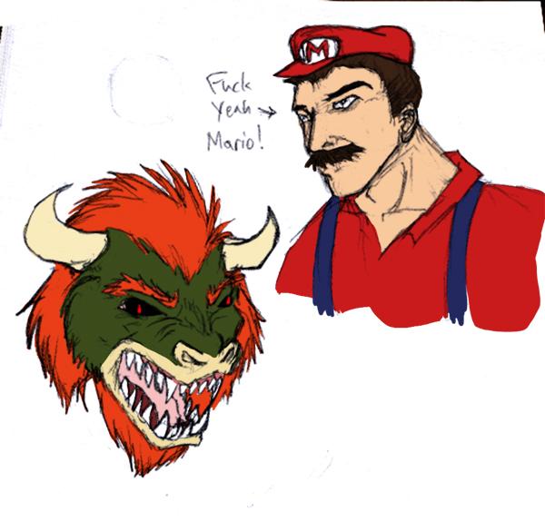 WTF Mario -OMGpostedfanart D:- by Pandadrake