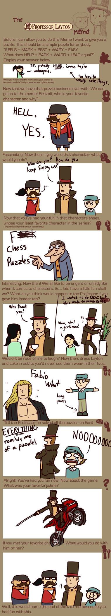 Professor Layton Meme by Pandadrake