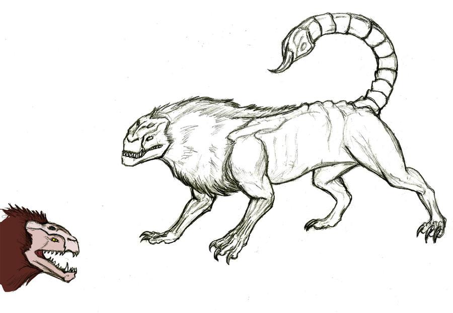 Manticore Sketch By Pandadrake On DeviantART