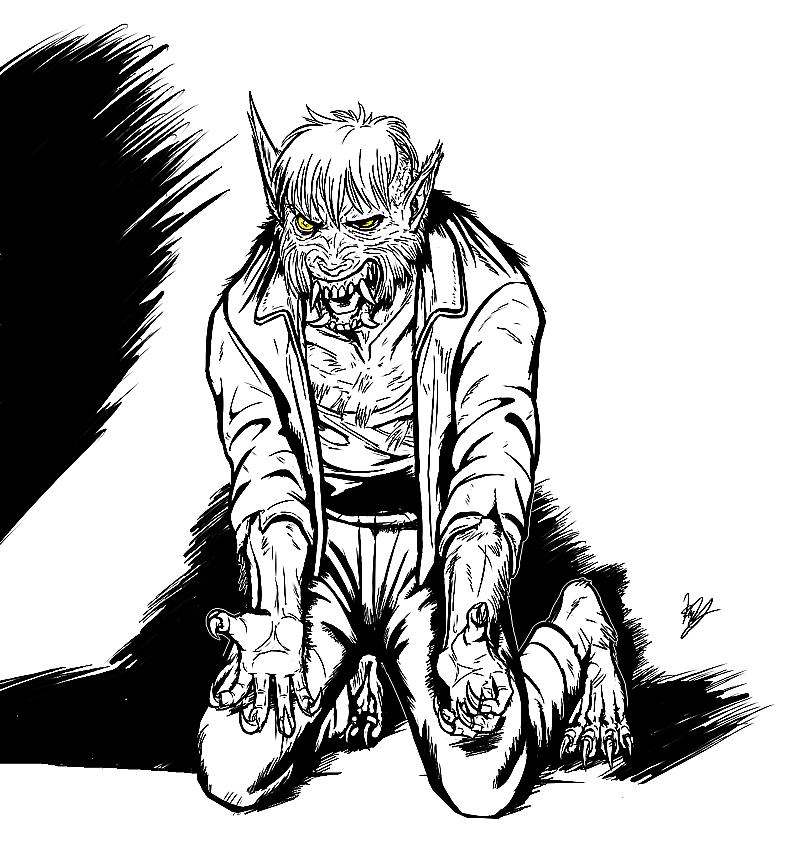 Grumpy Dogman by Pandadrake