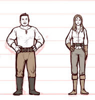 Monster Knight: Ben and Amelia Height Chart