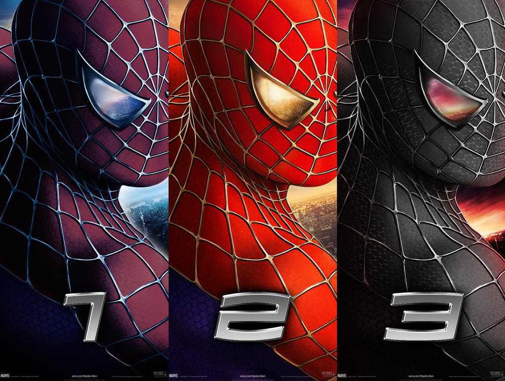 Spider-man - trilogy posters by AndrewSS7