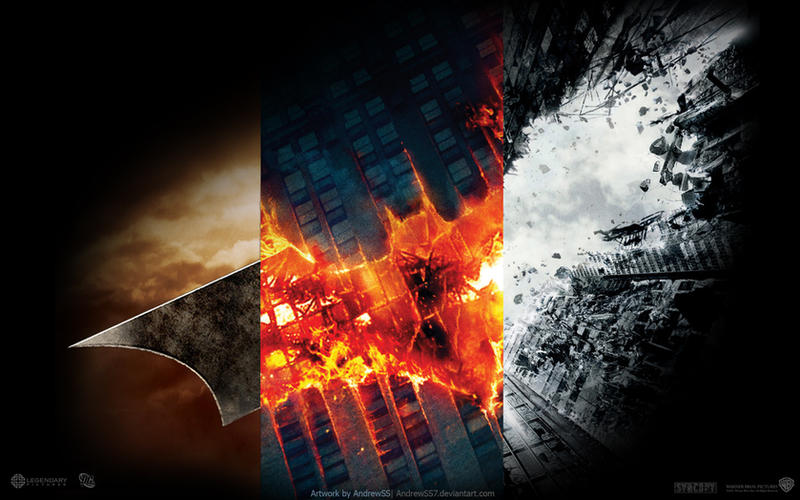 """Batman trilogy"" wallpaper by AndrewSS7"