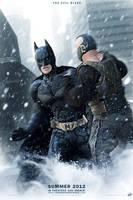 TDKR - Batman VS Bane poster by AndrewSS7