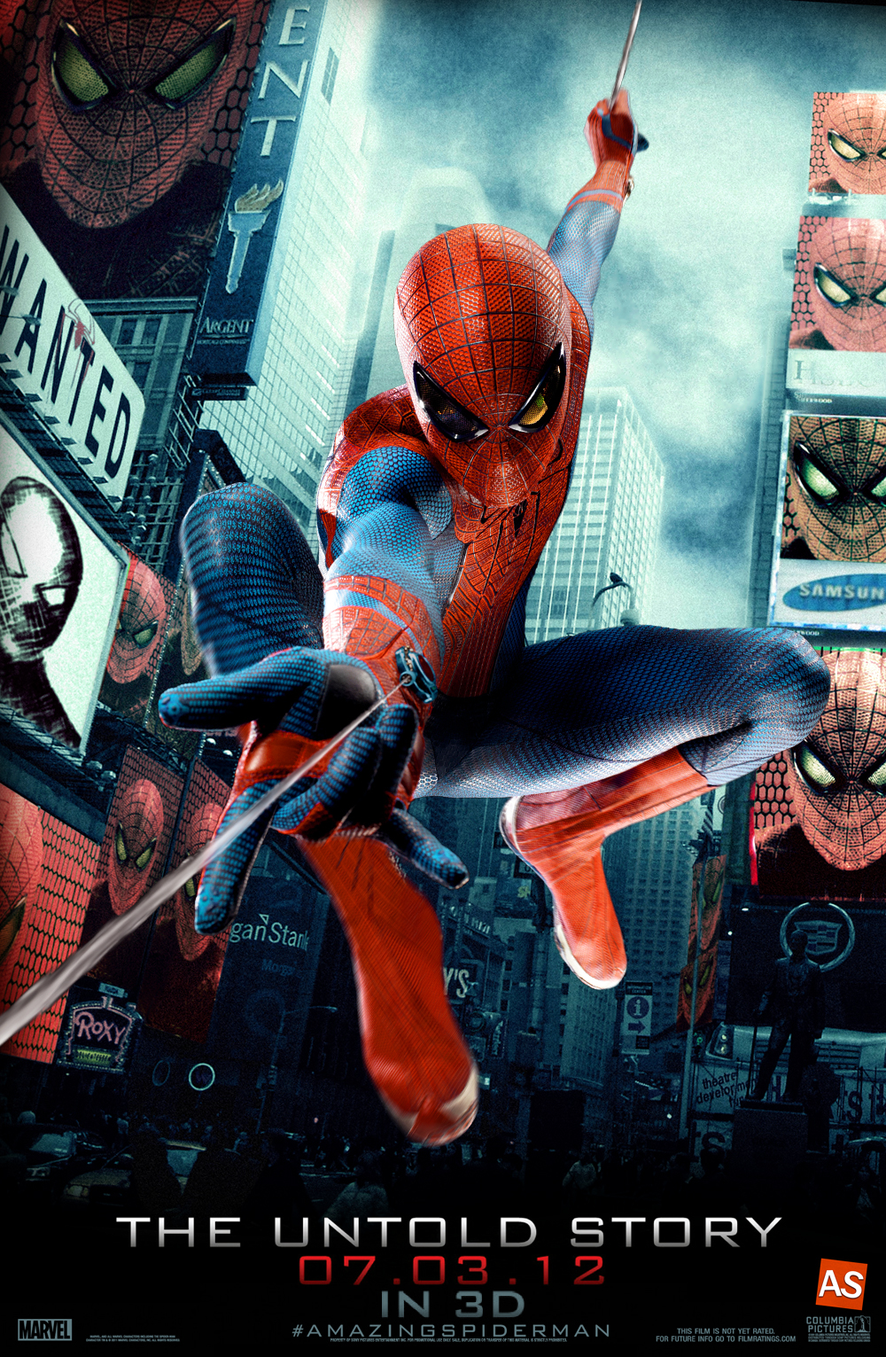 ''the Amazing Spider-Man'' - movie poster by AndrewSS7