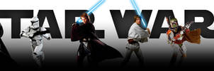 Star Wars saga - banner (CLEAR - no titles)