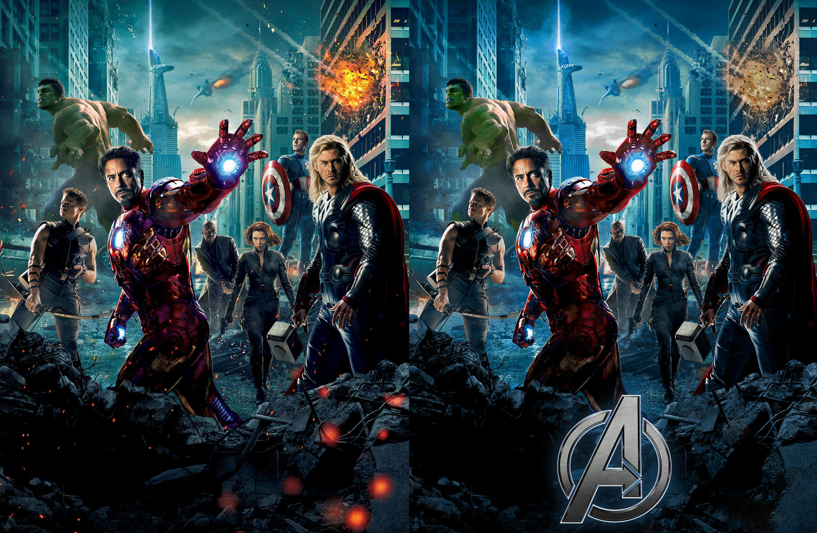 ''The Avengers'' poster recreated comparison by AndrewSS7
