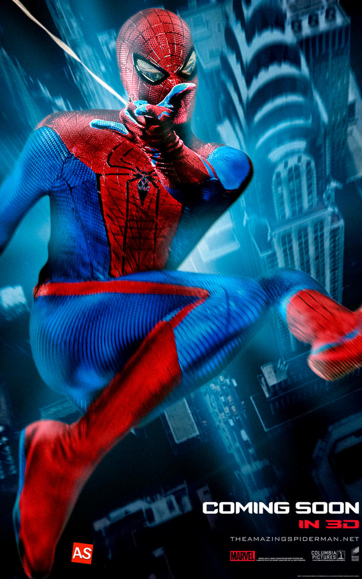 ''Amazing Spider-man'' poster - ''web-slinging'' by AndrewSS7