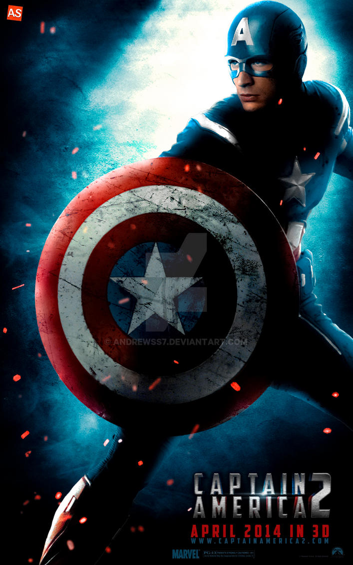 ''Captain America 2'' - teaser poster by AndrewSS7