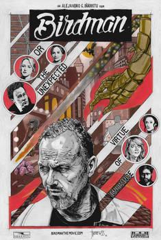Birdman movie poster (VARIANT)