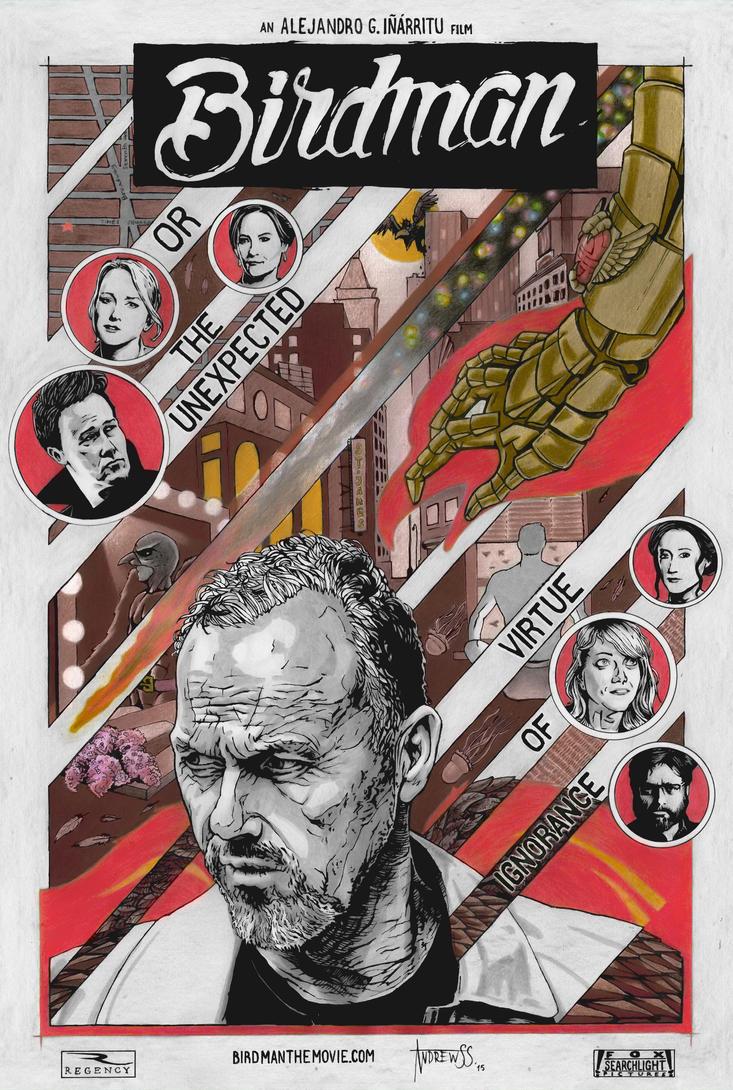 Birdman movie poster (VARIANT) by AndrewSS7