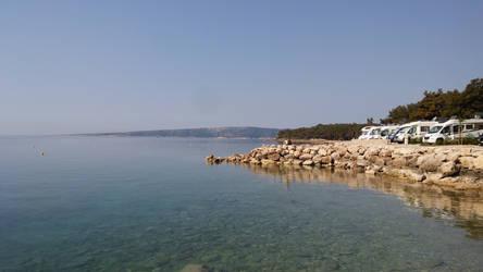 Camp Jezevac beach (the other side)