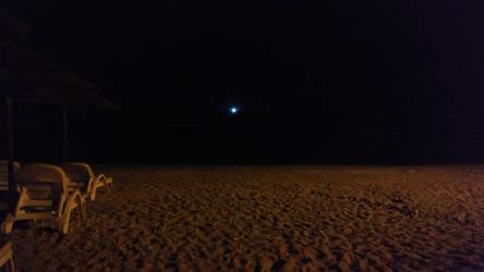 Camp Jezevac beach at night