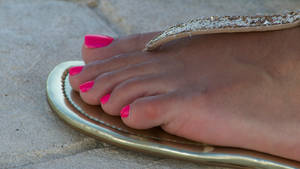 Connie's Pink Toes Close Up