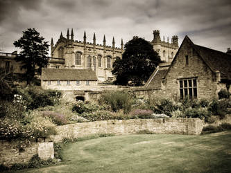 Old postcard from Oxford by borysses