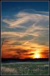 Sky at dusk 3 by borysses