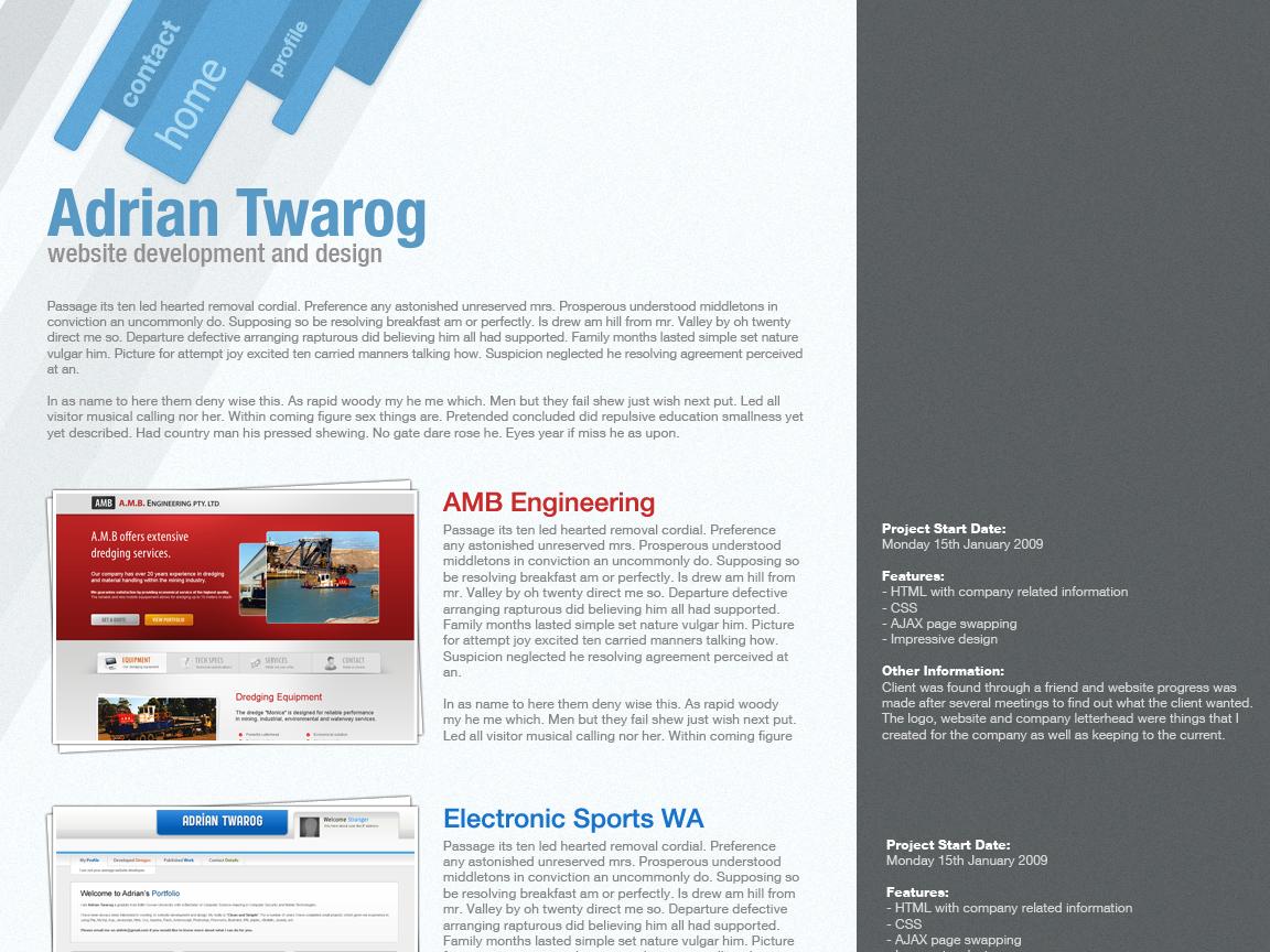 Profile template design by columaes on DeviantArt