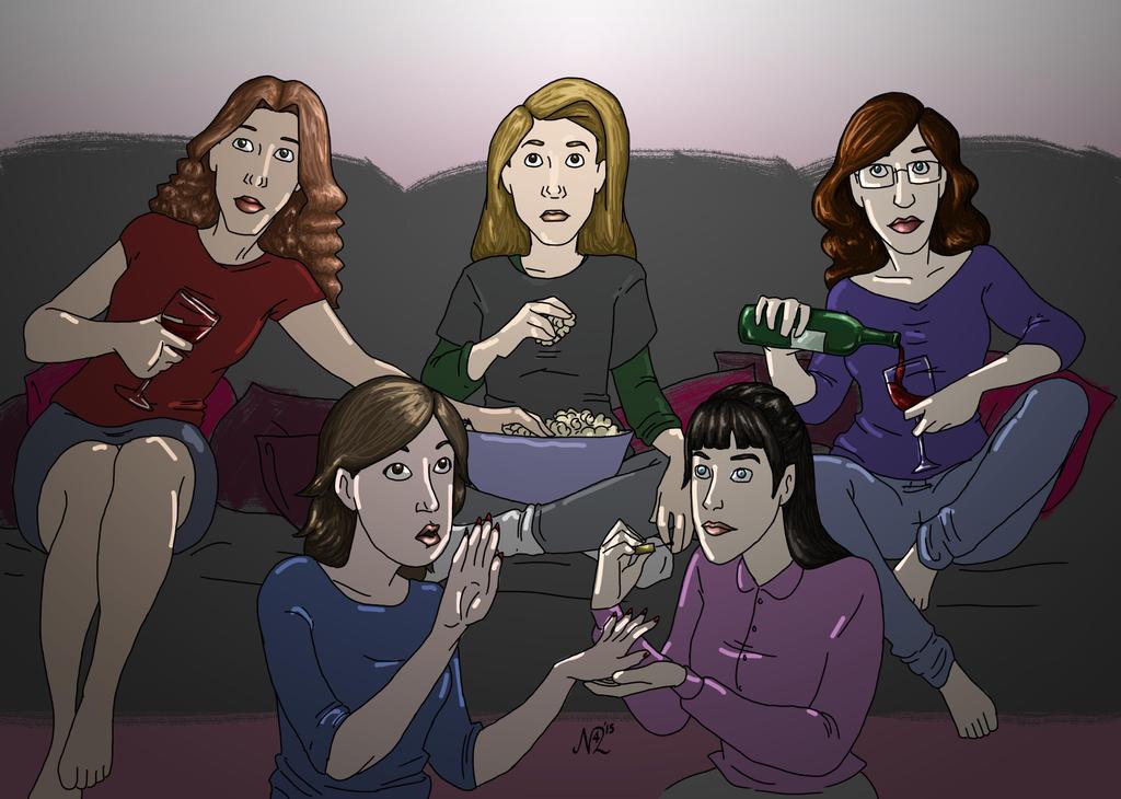 Tumblr Prompt: Ladies' Night by Nemhaine42