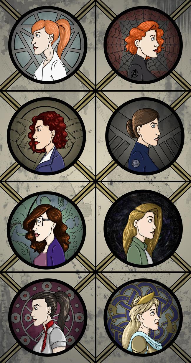 Marvel Ladies by Nemhaine42