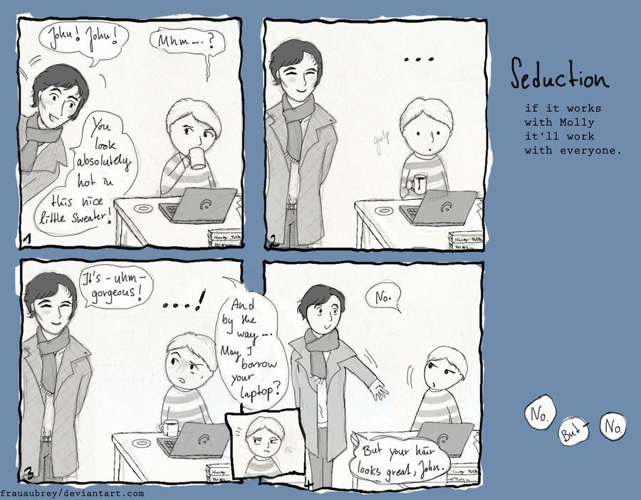 Sherlock Comic: 'You look hot, John!' by FrauAubrey