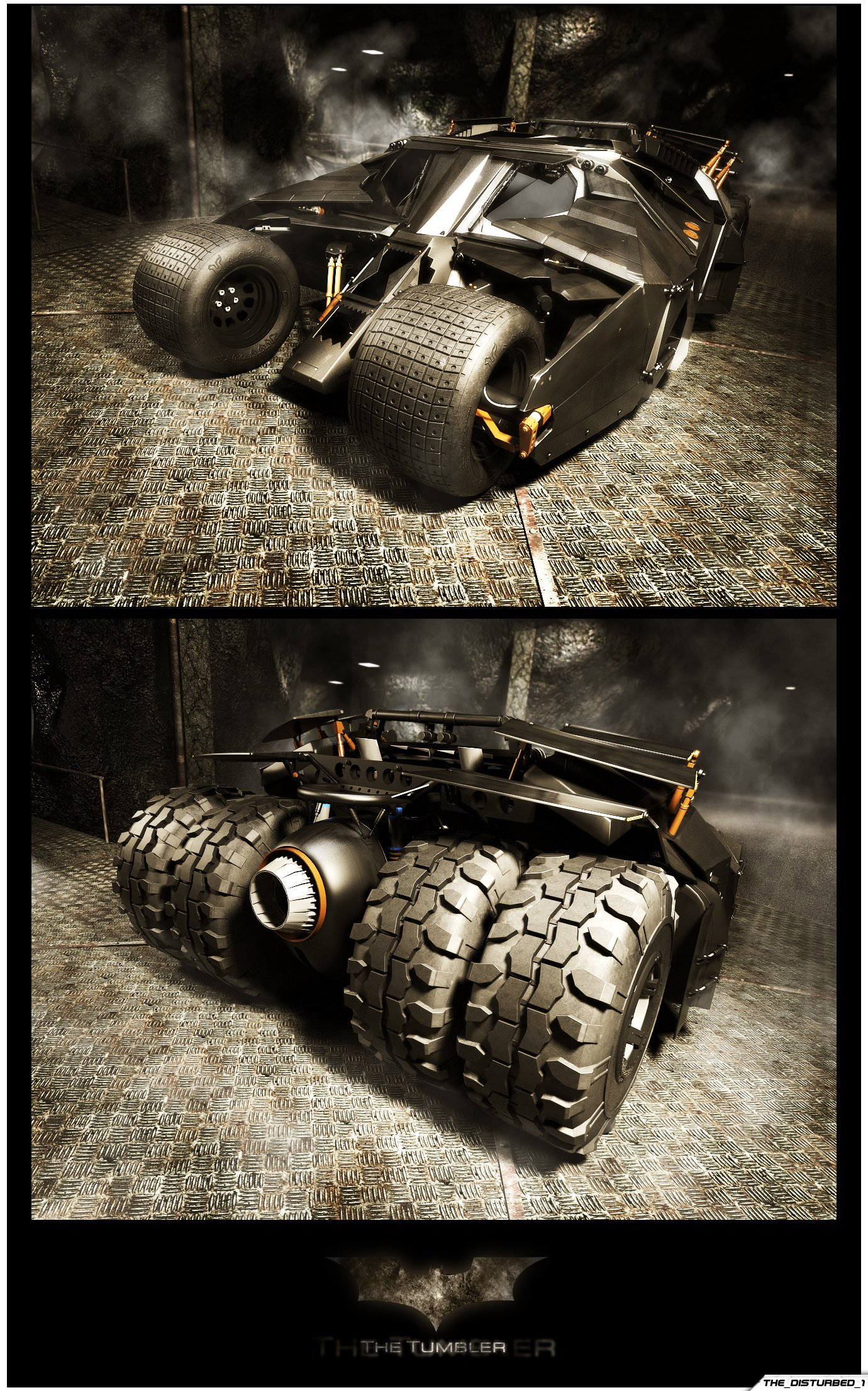 Batmobile - The Tumbler by artist-tortured