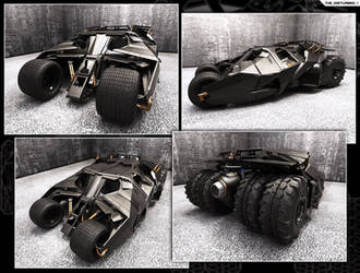 Batmobile - The Tumbler Street by artist-tortured