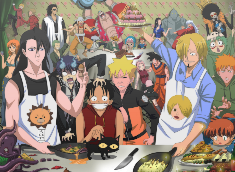 Epic meal time by Nouin on DeviantArt