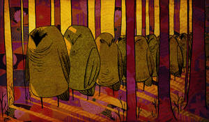 Owl procession