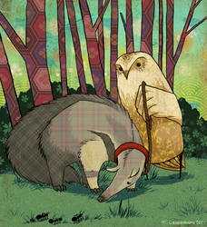 A is for ANTEATER - Colored