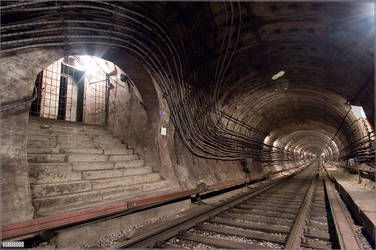 wide-angle view on the tunnel by Russos