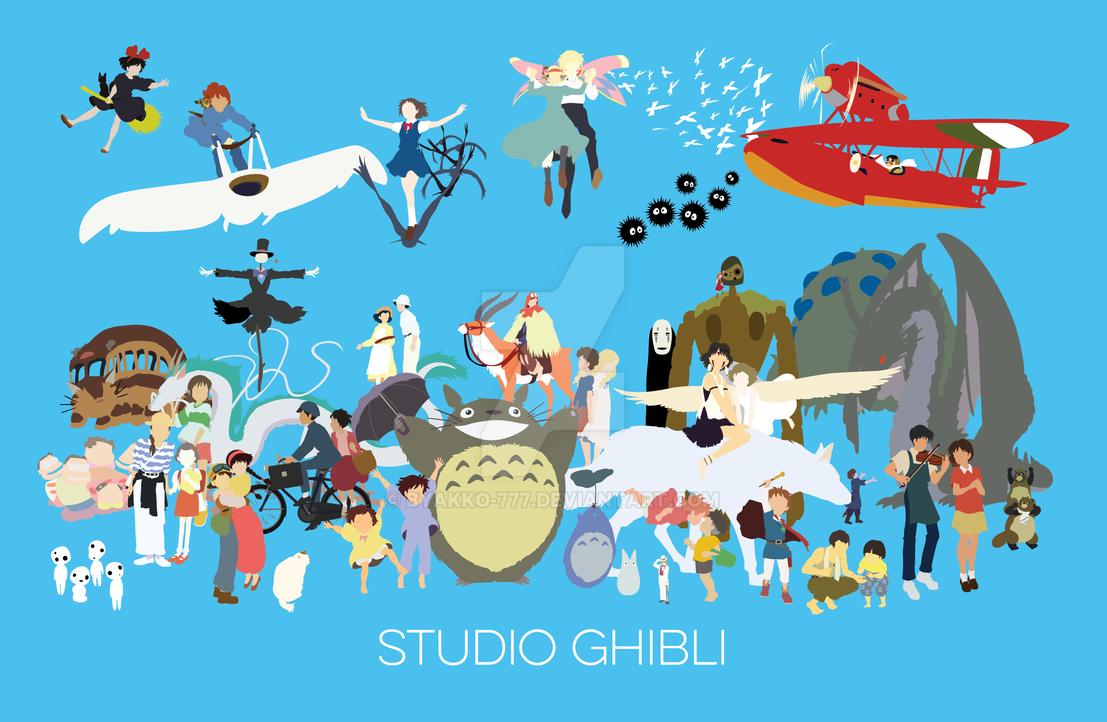 Tribute to studio ghibli by byakko 777 on deviantart