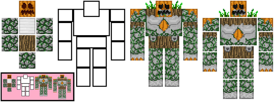 Minecraft Moss Golem Concept By Themfreak On Deviantart