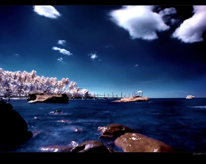Deep Blue Wallpaper by nxxos